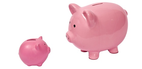bridging loan piggy bank big and small