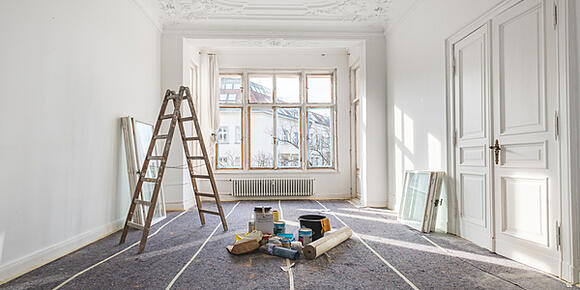 property refurbishment project on pause